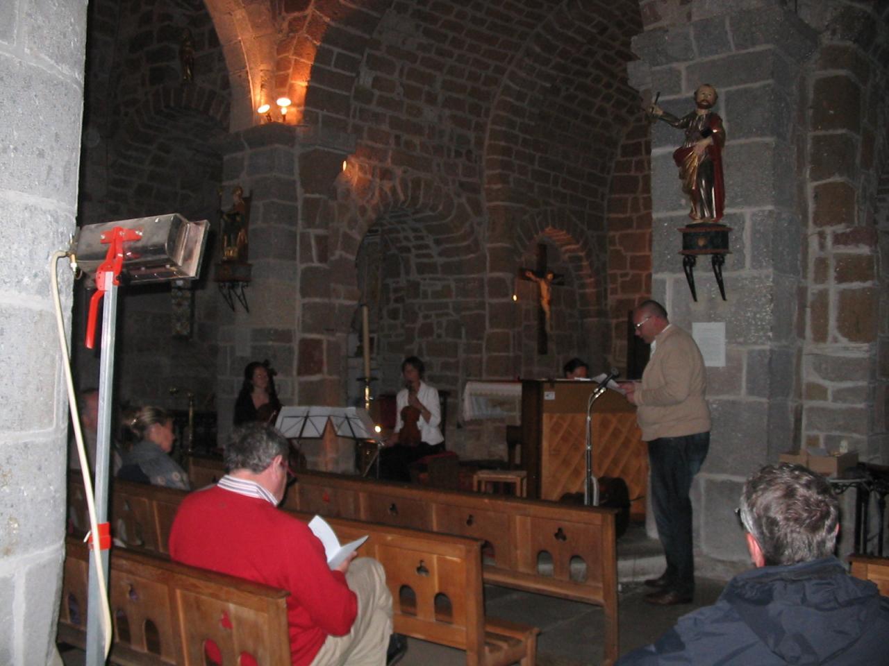 Le concert, église de Cheylade