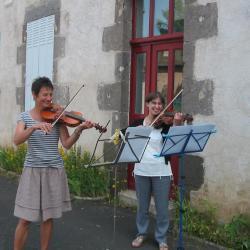 Marie- Françoise et Muriel en pleine répétition