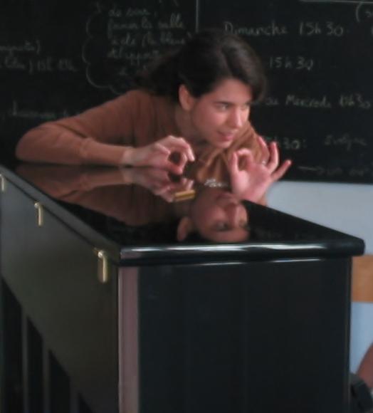 Mireia, très pédagogue