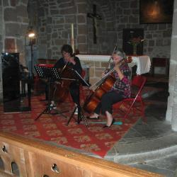 Concert de fin de stage dans l'église de Cheylade