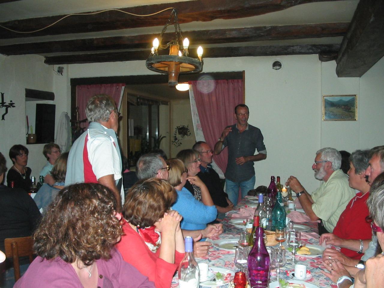 Au restaurant à Chalinargues