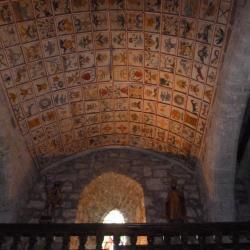 Le magnifique plafond de l'église de Cheylade